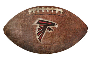 Atlanta Falcons Football Shaped Sign -12""