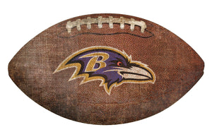 Baltimore Ravens Football Shaped Sign