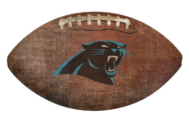 Carolina Panthers Football Shaped Sign