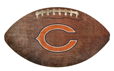 Chicago Bears Football Shaped Sign