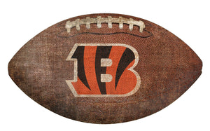 Cincinnati Bengals Football Shaped Sign