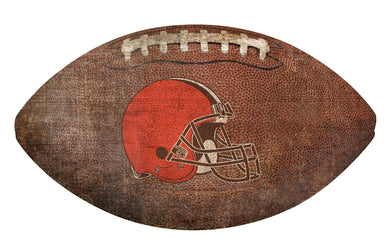 Cleveland Browns Football Shaped Sign