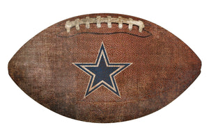 Dallas Cowboys Football Shaped Sign