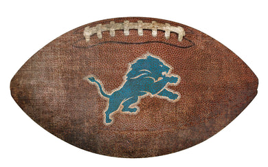 Detroit Lions Football Shaped Sign