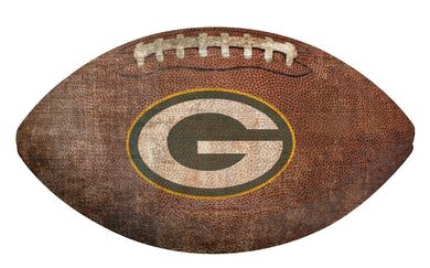Green Bay Packers Football Shaped Sign