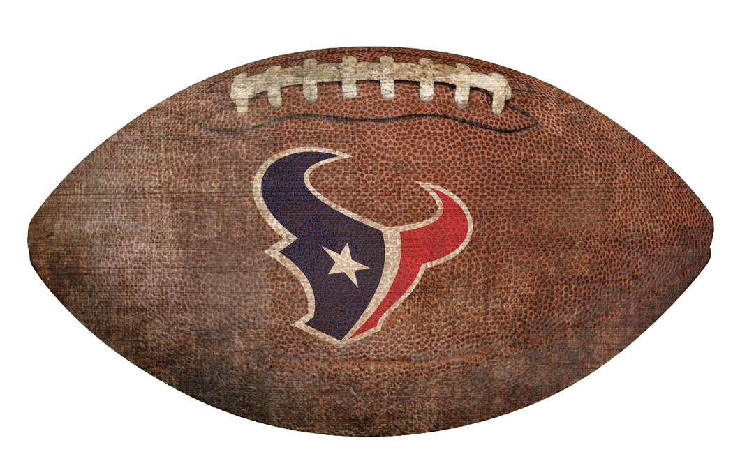 Houston Texans Football Shaped Sign