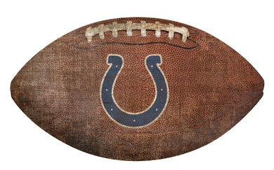 Indianapolis Colts Football Shaped Sign