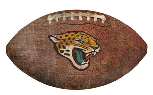 Jacksonville Jaguars Football Shaped Sign