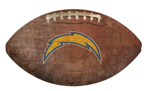 Los Angeles Chargers Football Shaped Sign