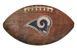 Los Angeles Rams Football Shaped Sign