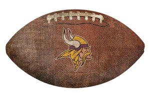 Minnesota Vikings Football Shaped Sign