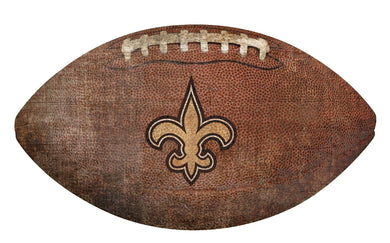 New Orleans Saints Football Shaped Sign