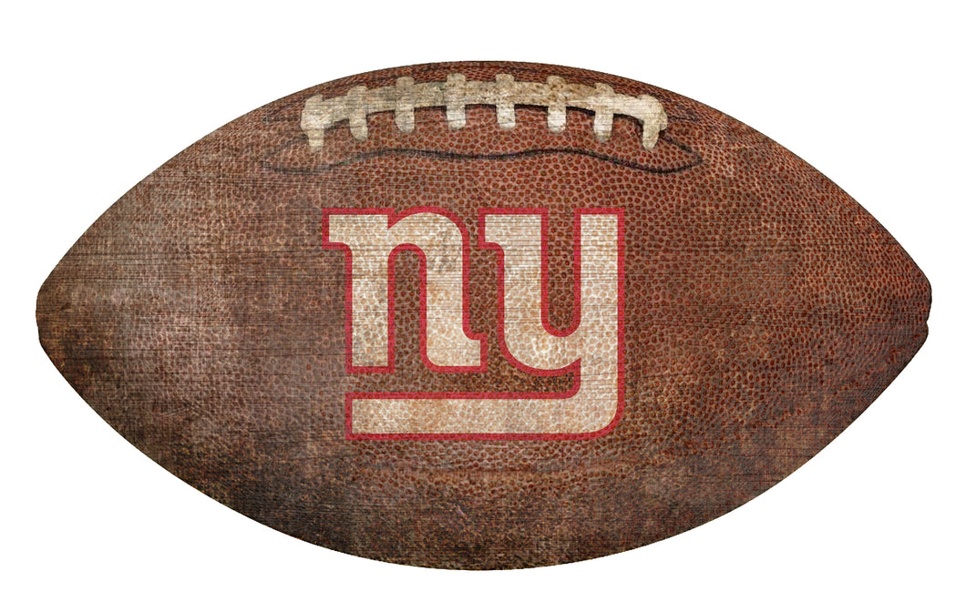 New York Giants Football Shaped Sign