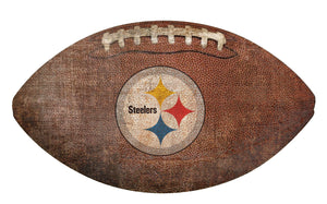 Pittsburgh Steelers Football Shaped Sign