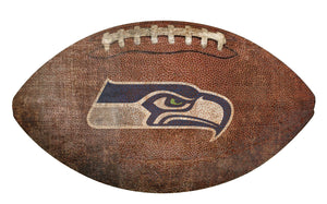 Seattle Seahawks Football Shaped Sign