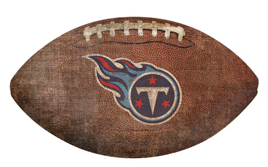 Tennessee Titans Football Shaped Sign