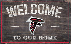 "Arizona Cardinals Welcome To Our Home Sign - 11""x19"""