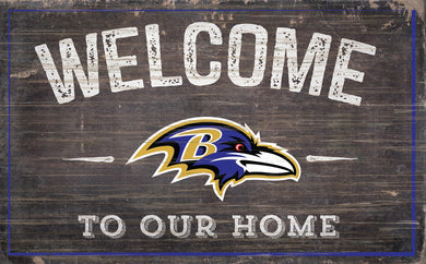 Baltimore Ravens Welcome To Our Home Sign - 11