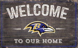 "Baltimore Ravens Welcome To Our Home Sign - 11""x19"""