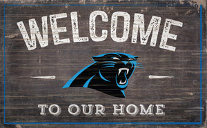 "Carolina Panthers Welcome To Our Home Sign - 11""x19"""