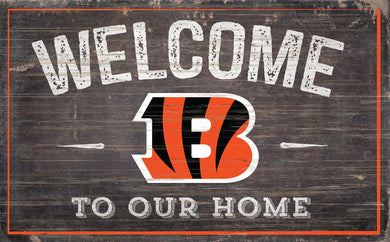 Cincinnati Bengals Welcome To Our Home Sign - 11