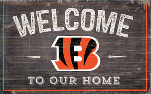 "Cincinnati Bengals Welcome To Our Home Sign - 11""x19"""