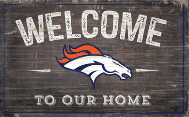 Denver Broncos Welcome To Our Home Sign - 11