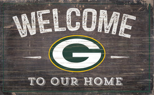 "Green Bay Packers Welcome To Our Home Sign - 11""x19"""