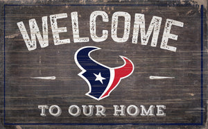 "Houston Texans Welcome To Our Home Sign - 11""x19"""
