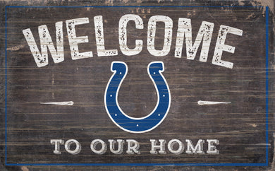Indianapolis Colts Welcome To Our Home Sign - 11