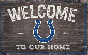 "Indianapolis Colts Welcome To Our Home Sign - 11""x19"""