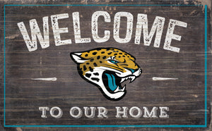 "Jacksonville Jaguars Welcome To Our Home Sign - 11""x19"""