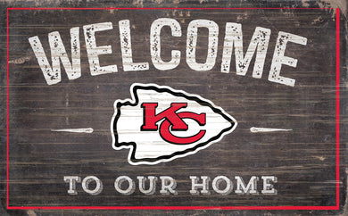 Kansas City Chiefs Welcome To Our Home Sign - 11
