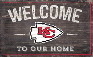 "Kansas City Chiefs Welcome To Our Home Sign - 11""x19"""