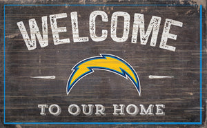 "Los Angeles Chargers Welcome To Our Home Sign - 11""x19"""