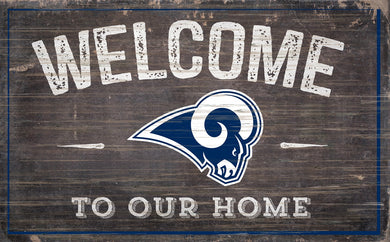 Los Angeles Rams Welcome To Our Home Sign - 11