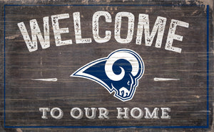 "Los Angeles Rams Welcome To Our Home Sign - 11""x19"""