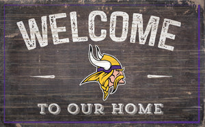 "Minnesota Vikings Welcome To Our Home Sign - 11""x19"""