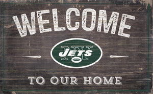"New York Jets Welcome To Our Home Sign - 11""x19"""