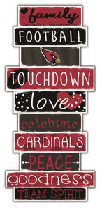 Arizona Cardinals Celebrations Stack Wood Sign -24""