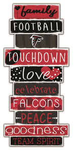 Atlanta Falcons Celebrations Stack Wood Sign -24""