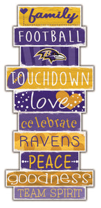 Baltimore Ravens Celebrations Stack Wood Sign -24""