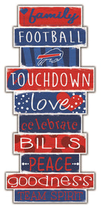 Buffalo Bills Celebrations Stack Wood Sign -24""