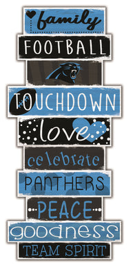 Carolina Panthers Celebrations Stack Wood Sign -24