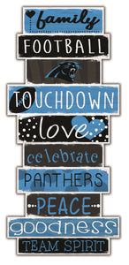Carolina Panthers Celebrations Stack Wood Sign -24""