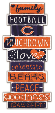Chicago Bears Celebrations Stack Wood Sign -24