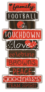 Cleveland Browns Celebrations Stack Wood Sign -24""