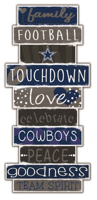 Dallas Cowboys Celebrations Stack Wood Sign -24