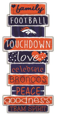 Denver Broncos Celebrations Stack Wood Sign -24