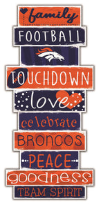 Denver Broncos Celebrations Stack Wood Sign -24""